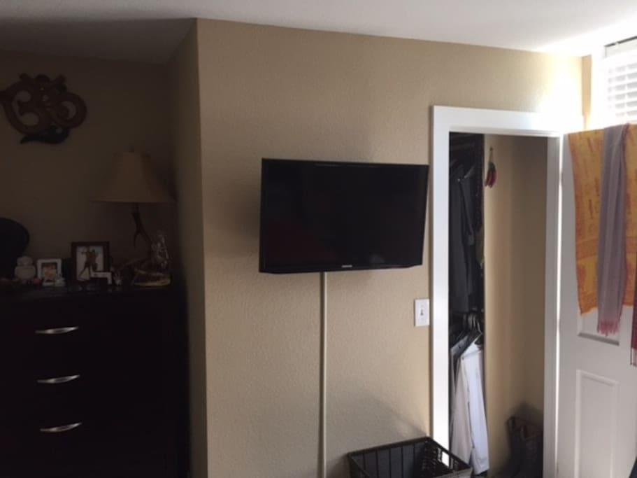 Smart TV in the Bedroom.