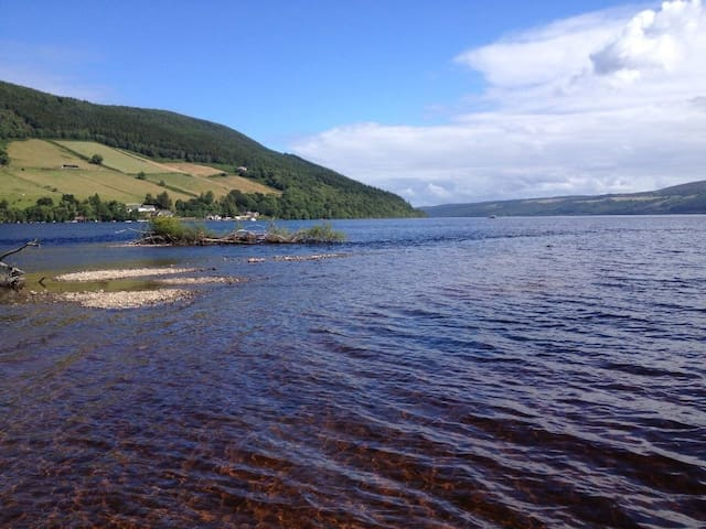 Kingsize room close to Loch Ness search for Nessie - Drumnadrochit - Hus