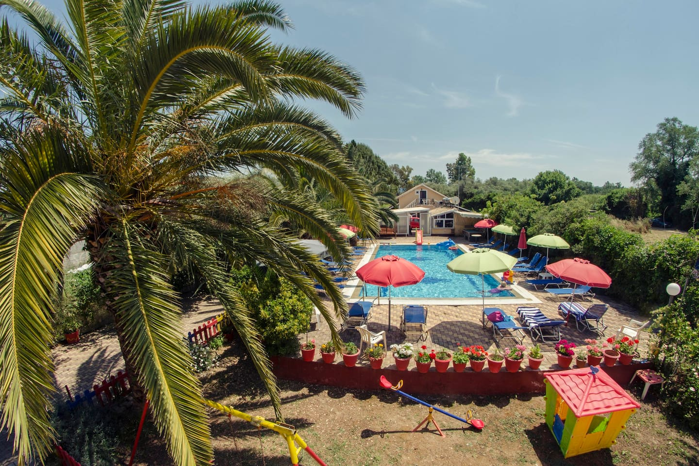swimming pool and play ground area