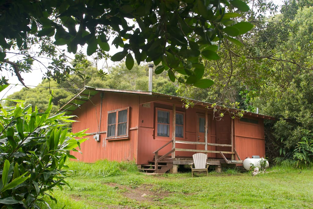 Exterior of the Red Cabins