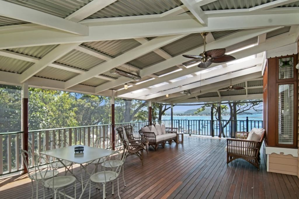 LARGE UNDERCOVER TERRACE WITH WATERVIEWS