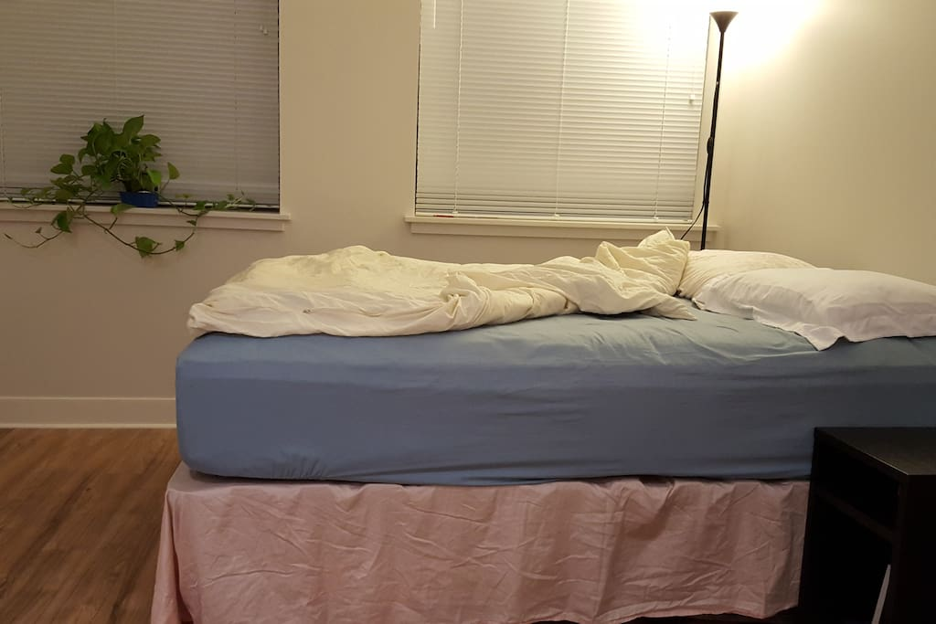 Comfortable full size bed