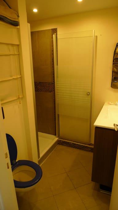 Salle d'eau, douche et WC