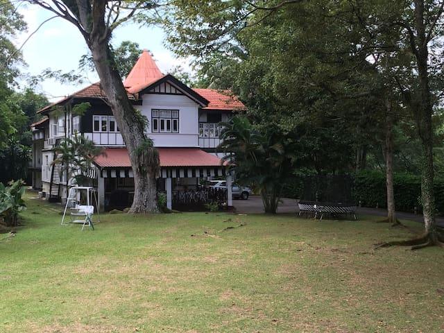 Historical black & white house