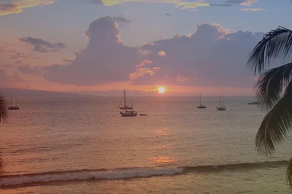 Sunset view from lanai