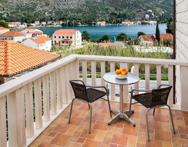 Apartments Zaton Bay - Studio with Terrace and Sea View