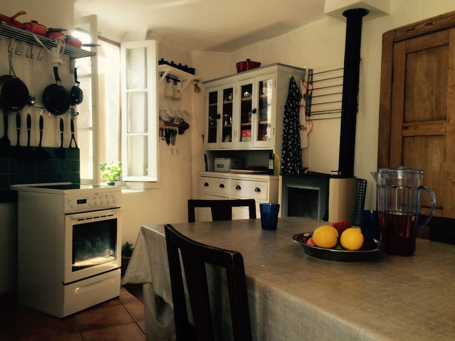 Typical French kitchen with plenty of space for guests