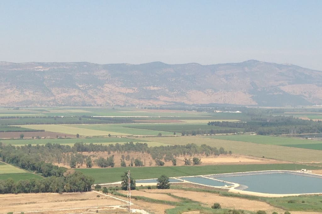 View from the top of our road (View of the Hula Valley)