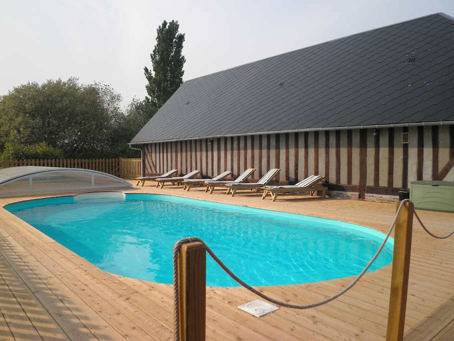 Shared heated and covered pool if needed