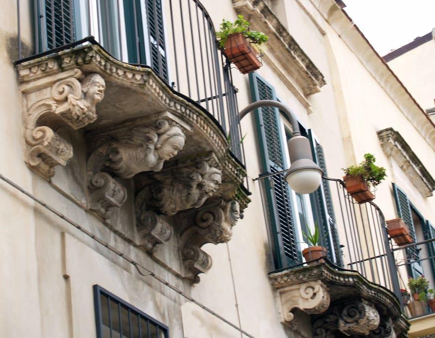 Balconi del palazzo
