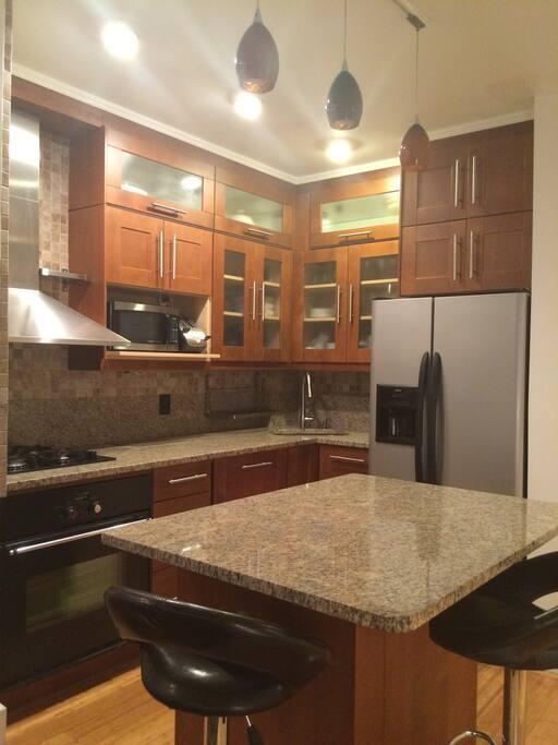 Beautiful cherry and granite kitchen