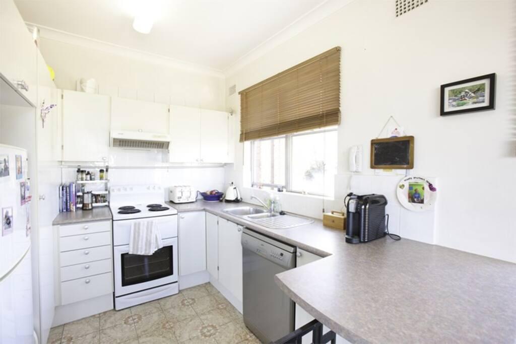 Oven, fridge, toaster, kettle