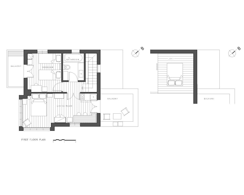 The plan of the first floor