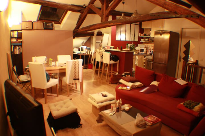 Charmant loft proche Paris