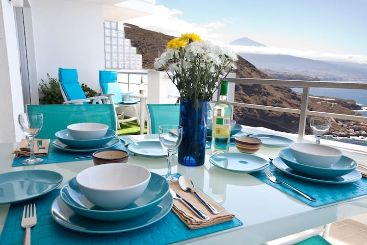 Apartment with terrace sea & Teide - La Matanza - Huoneisto