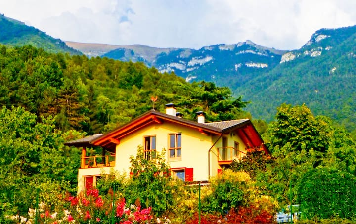 Dream villa, view on Dolomites
