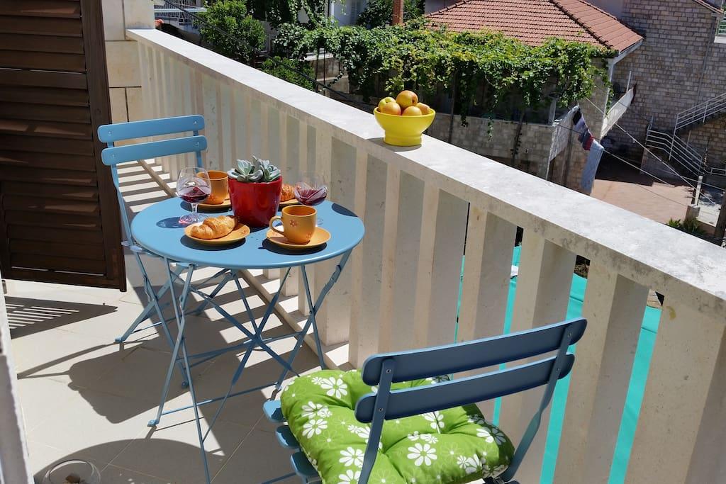 Lovely sunny balcony
