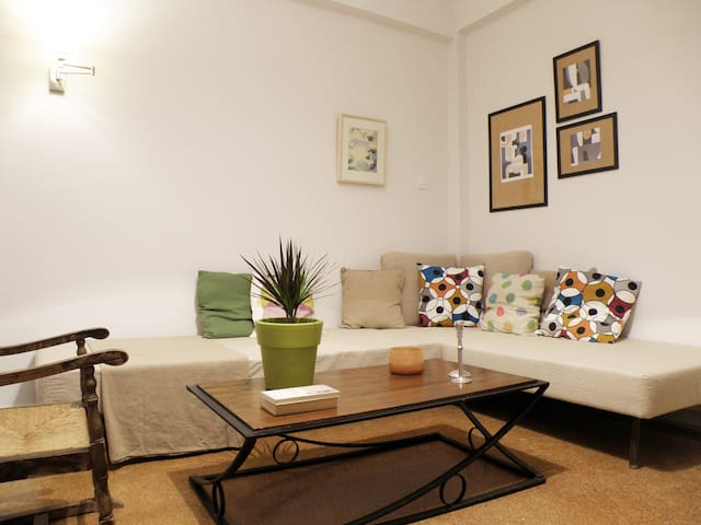 Cozy apt. 5' from metro & Acropolis - Athene - Appartement