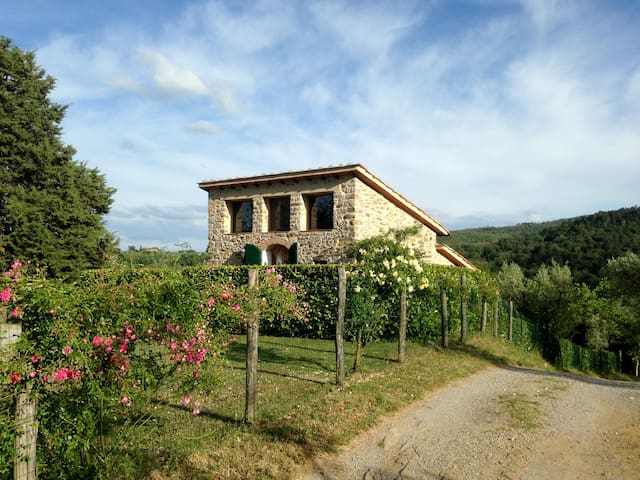 Il Fienile, stone cottage for 2, with pool - Cavriglia - Maison