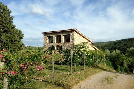 Il Fienile, stone cottage for 2, with pool - Cavriglia - Haus