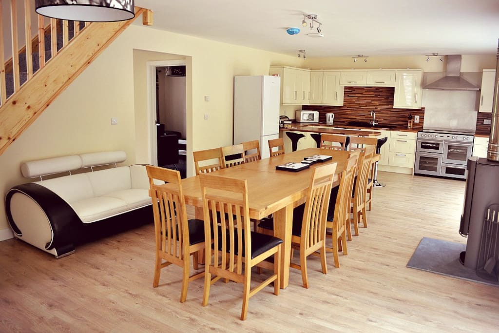 Large Kitchen Dining Room designed to be the hub of the house.