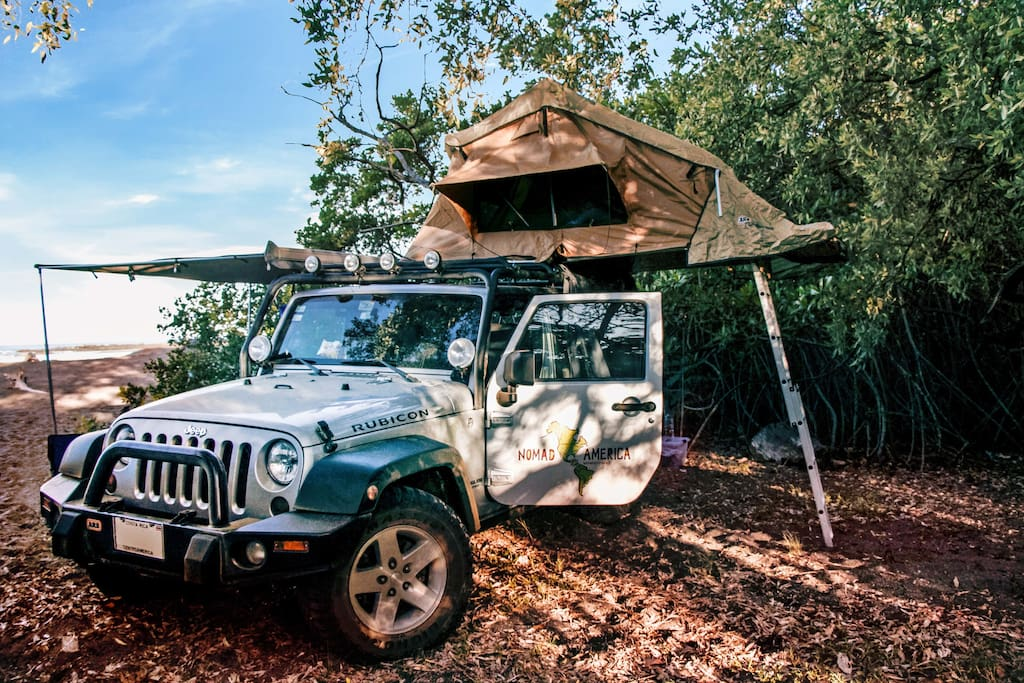 Camp Anywhere in C.R.! Right on the beach, deep in rainforests, full gear included!