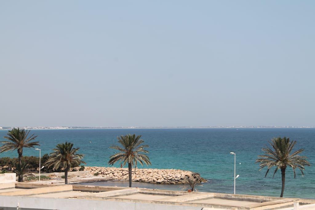 agréable vue sur mer depuis votre balcon