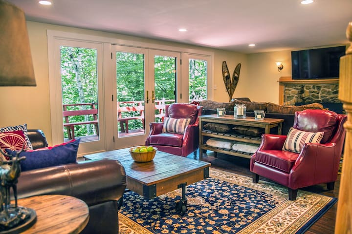 Living room with 2 VERY comfortable seating areas.