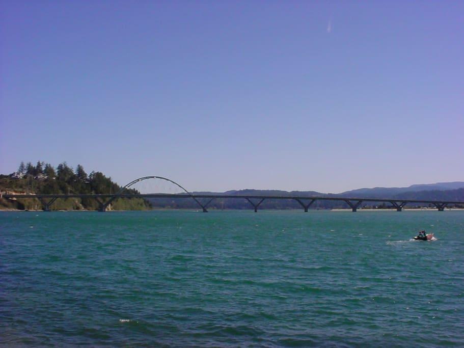 Alsea Bay Bridge-a nice walk over the bridge to town