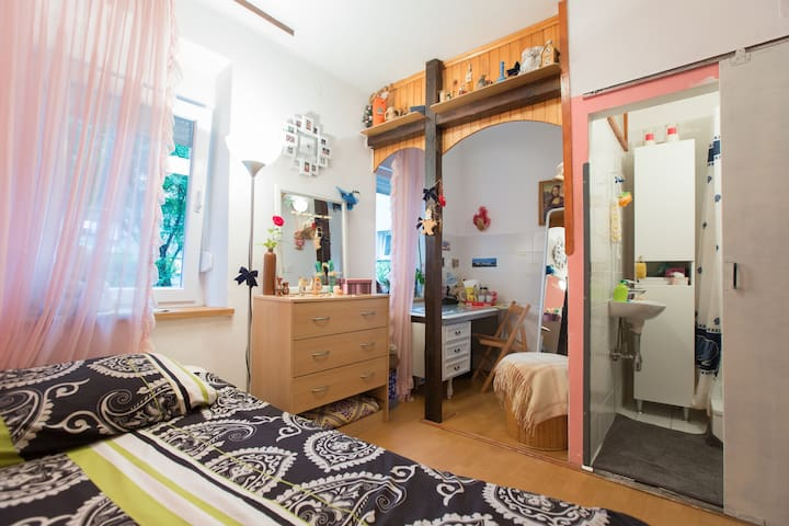 Cozy private room with bathroom - Zagreb - Appartement