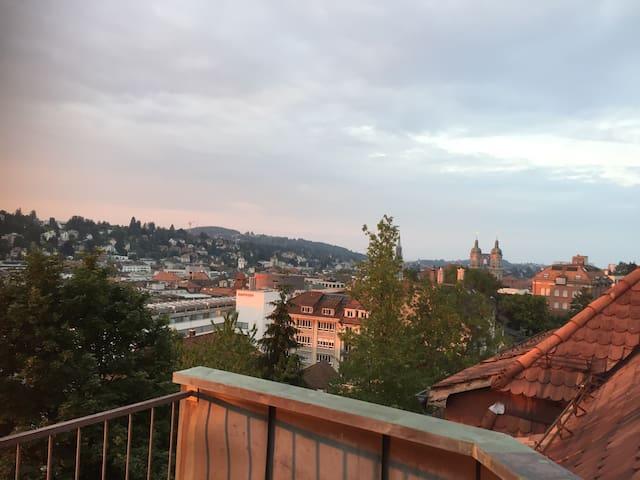 Zentral mit Blick über die Stadt - Saint Gallen - Lägenhet