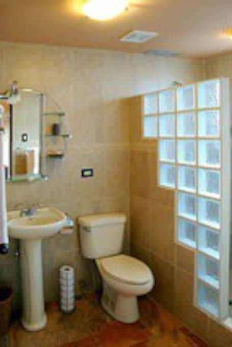 Bathrooms are updated, modern and clean, Maid service daily