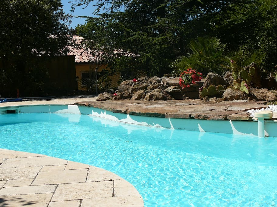 Magnifique cabanon piscine jardin houses for rent in for Piscine st maximin