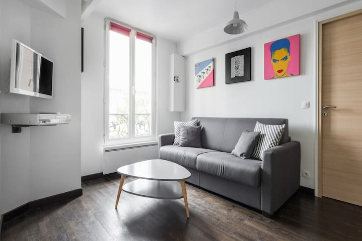 Bright and Cosy 1 Bedroom apt  - Paris - Lägenhet
