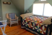 High antique full bed with view of Watch Hill, RI