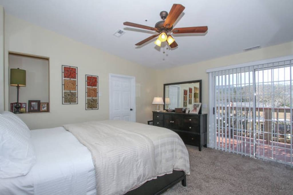 Master suite with private balcony