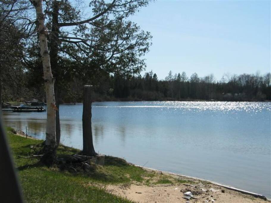 Little Brevort Lake Mi walking distance