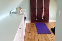 yoga studio steps from the bedroom