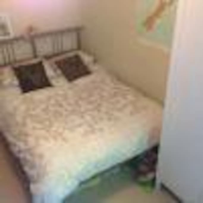 Comfortable double bed, all sheets provided.