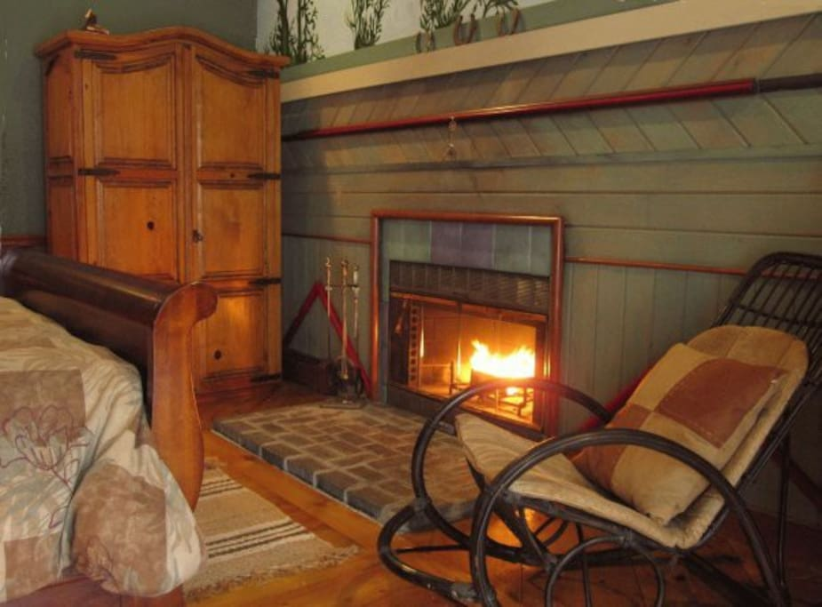 From early fall till late spring, there's nothing like the warm glow the wood-burning fireplace in your room. We supply seasoned split wood and starter logs.