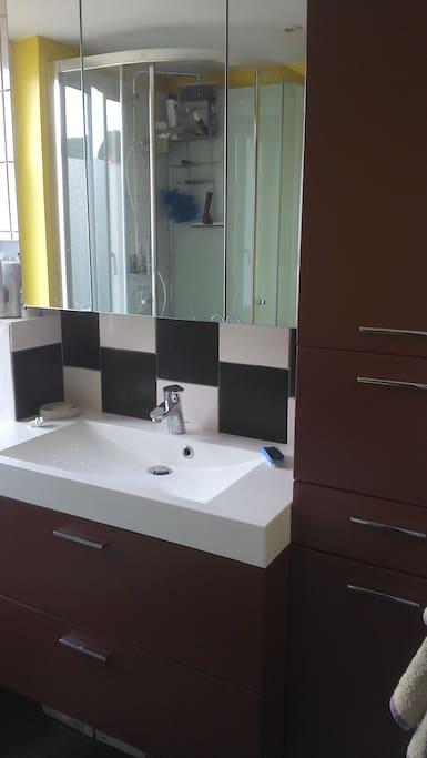 La salle de bains partagée