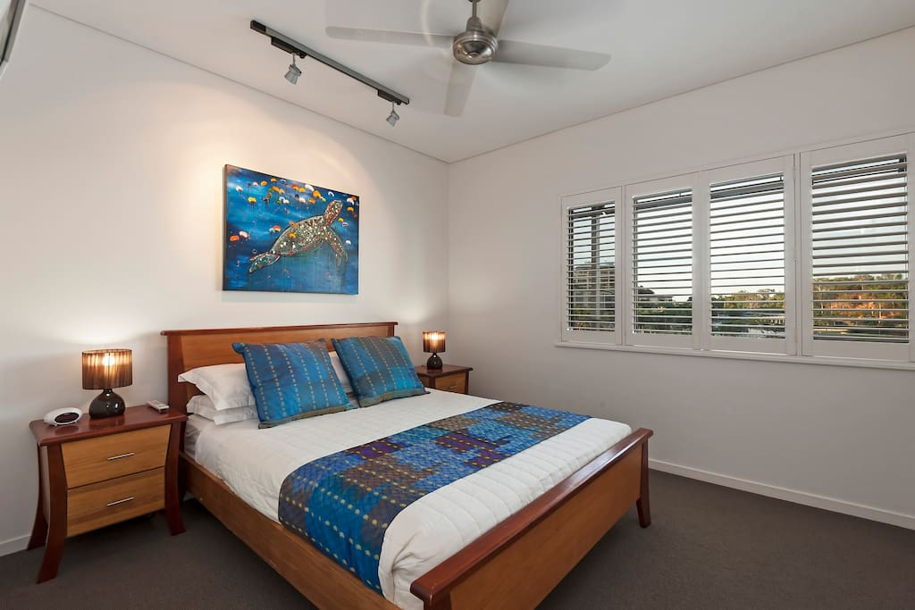 Second bedroom, all  bedrooms with plantation shutters