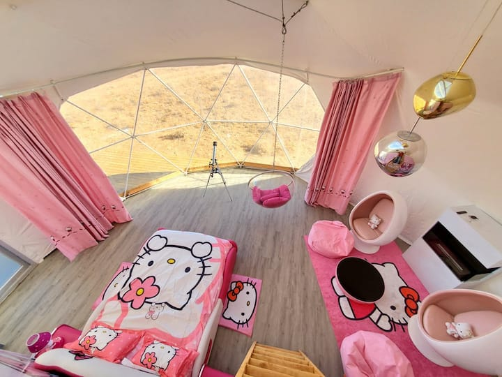 "Family ""Pink"" Luxury Sky Dome"