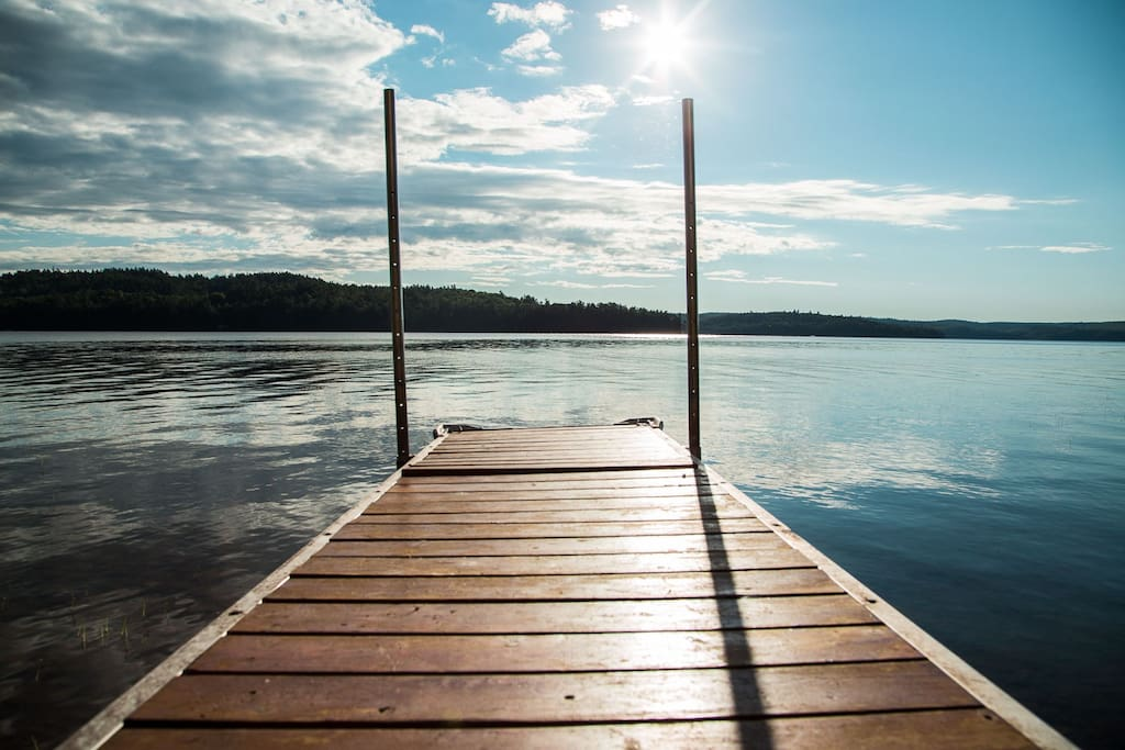 Sit out on the dock and watch the sunrise!