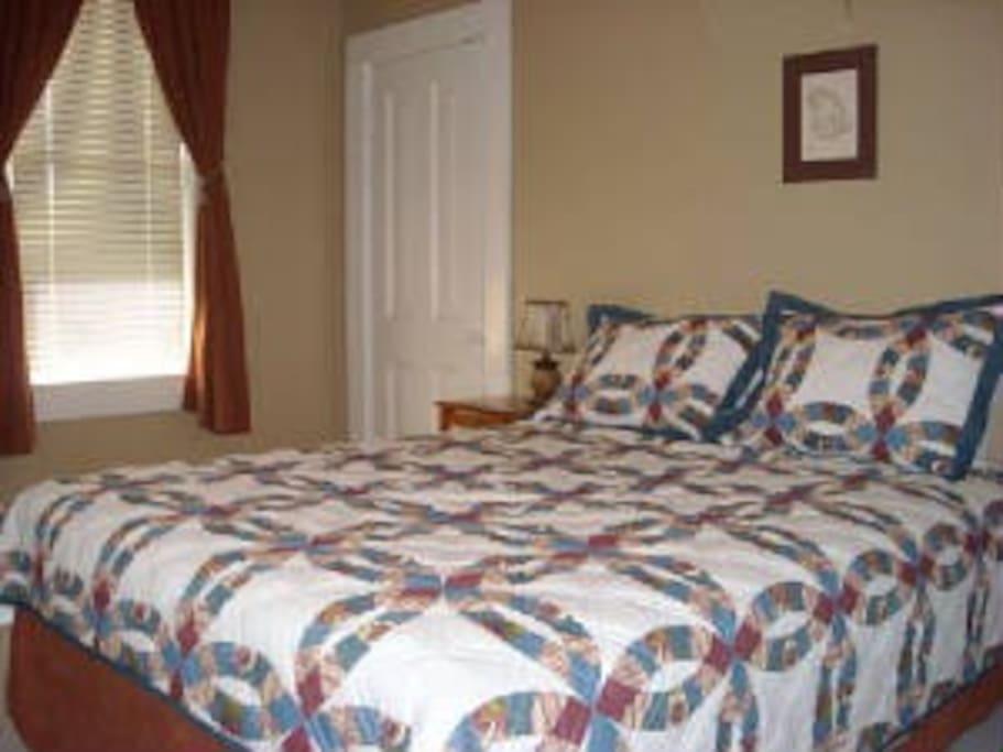 Clean, comfortable, quiet room.