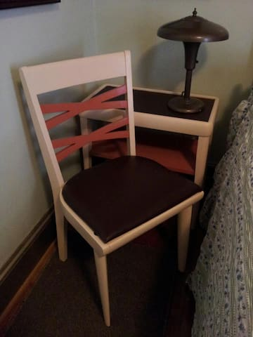 chair and end table in the Charleston room