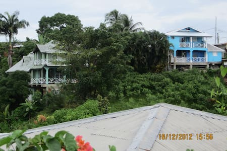 HOLIDAYRENTAL ONE LOVE COTTAGE TOBAGO upstairs apt - Mary's Hill - Lägenhet