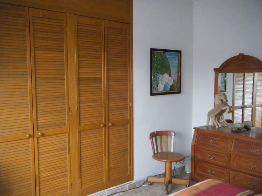 Clóset and boudoir