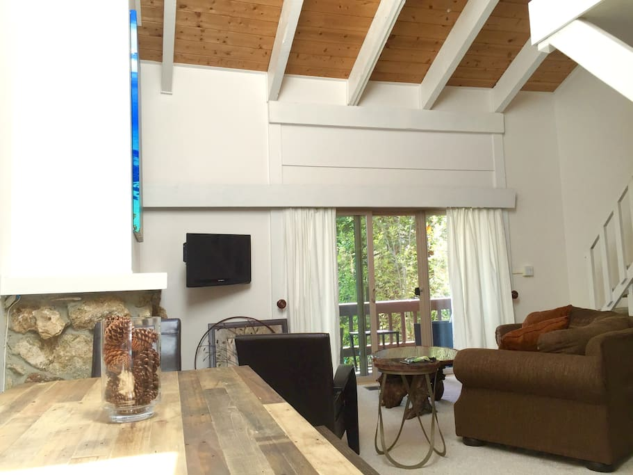 Beautiful vaulted ceilings with a skylight to bring in plenty of natural light.