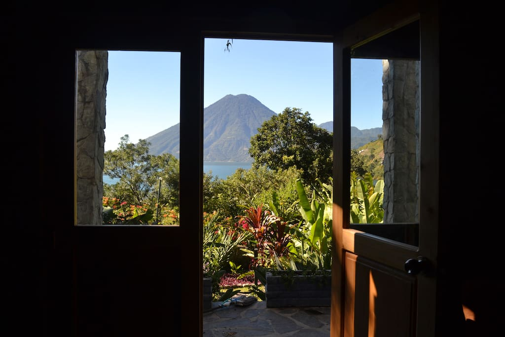 From the dining room you can see the San Pedro volcano